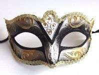 Black and Gold Fabiola Mask
